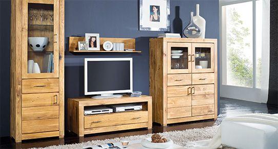 Eichenholz Möbel Als Wohnwand