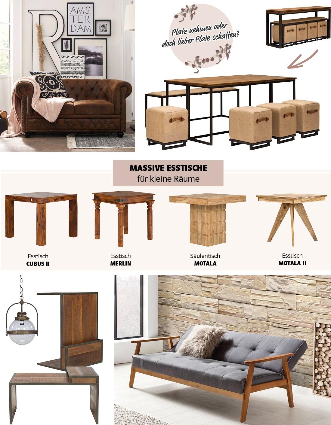 Kleine Raume Einrichten Mit Holzmobeln Massivum