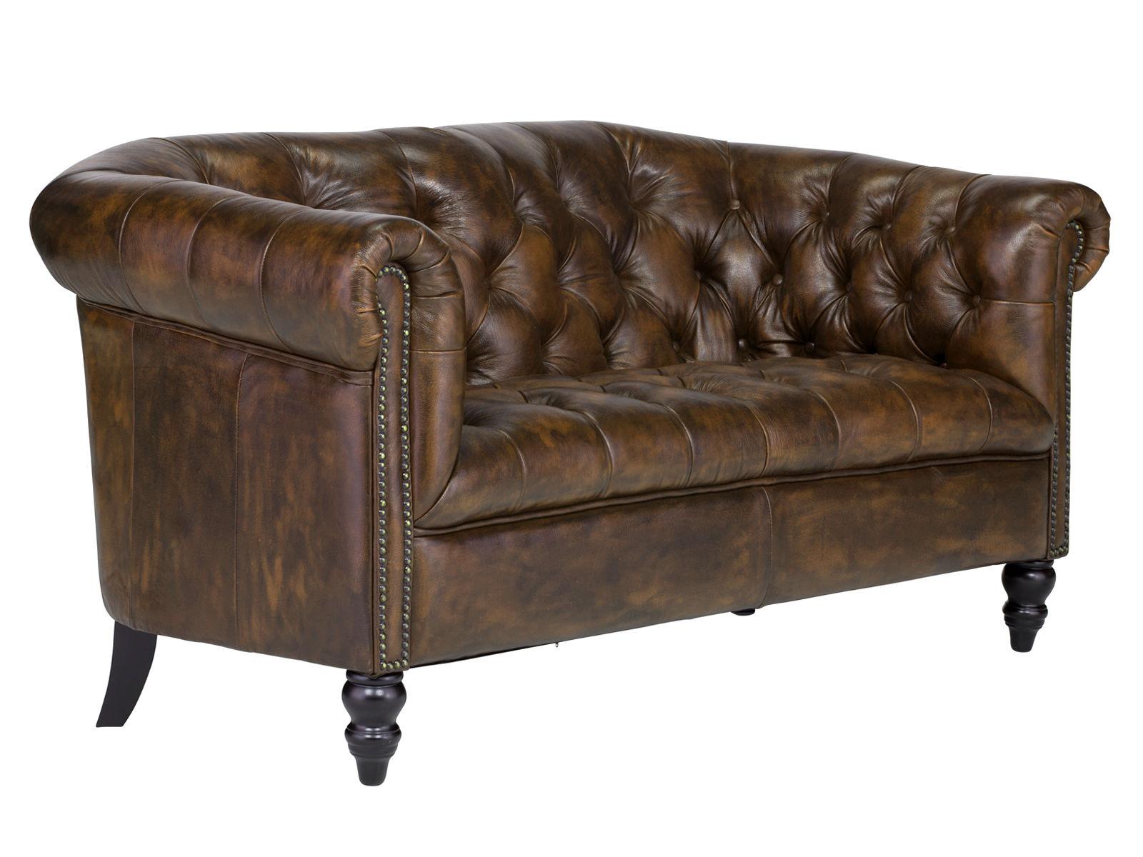 Sofa Chesterfield Shelford 2-Sitzer antik braun