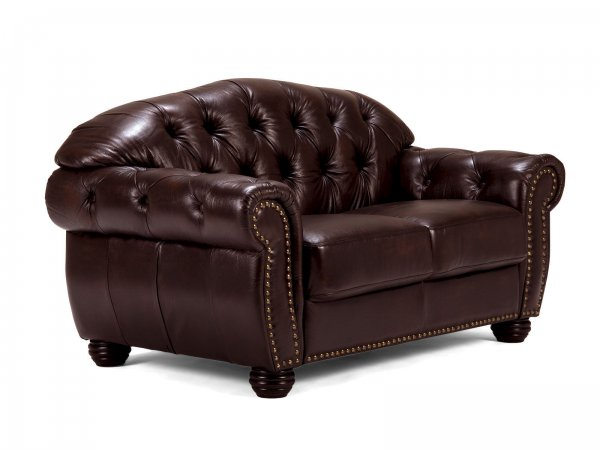 Sofa Chesterfield Hereford 2-Sitzer antik braun