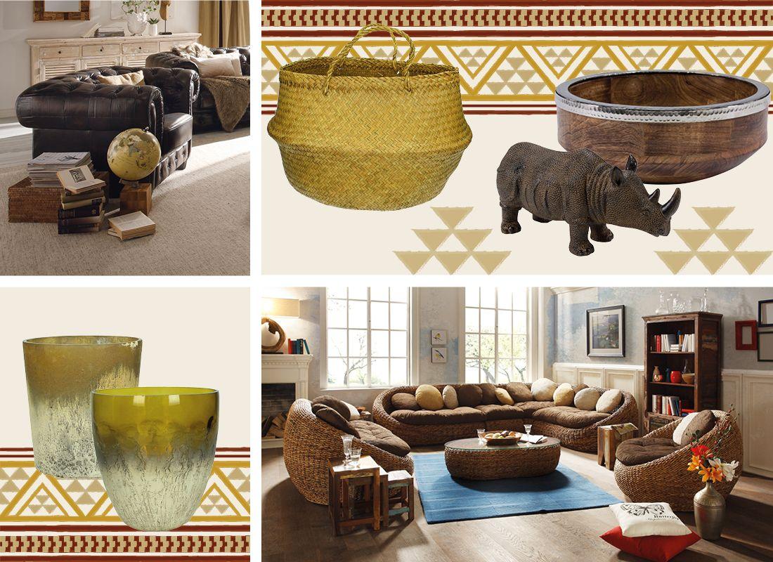 Afrika Deko & Einrichtung » Wohnen im Safari Style  massivum