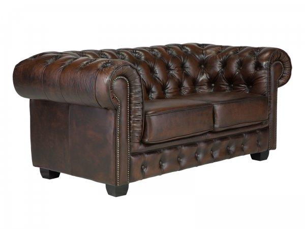 Sofa Chesterfield Big 2-Sitzer Echtleder