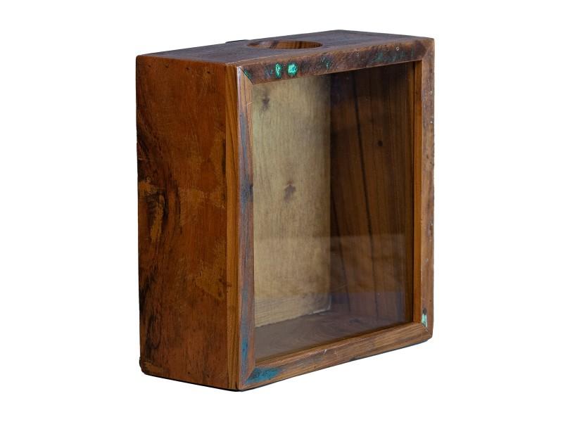 Korkensammelbox Altholz