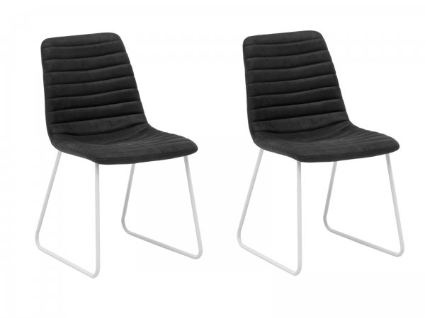2er Set Stuhl Milton grau/weiß