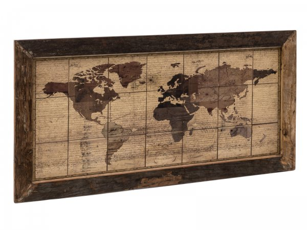 Wandbild World Map 180x90