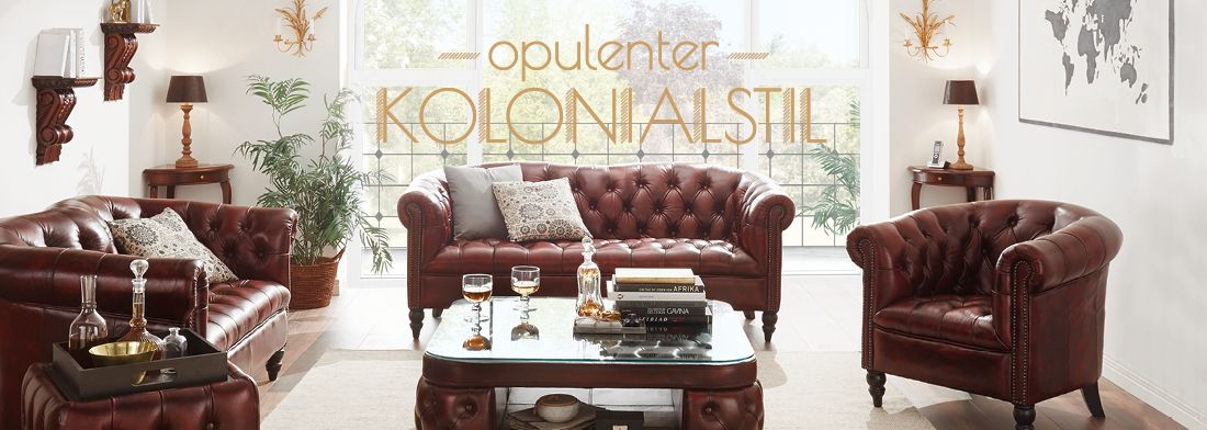 opulenter wohnstil opulente m bel im kolonialen stil massivum. Black Bedroom Furniture Sets. Home Design Ideas