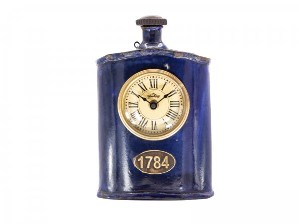 Flaschenuhr Metall