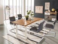 Esstisch Bullwer mit 4 Stühlen Picton grau