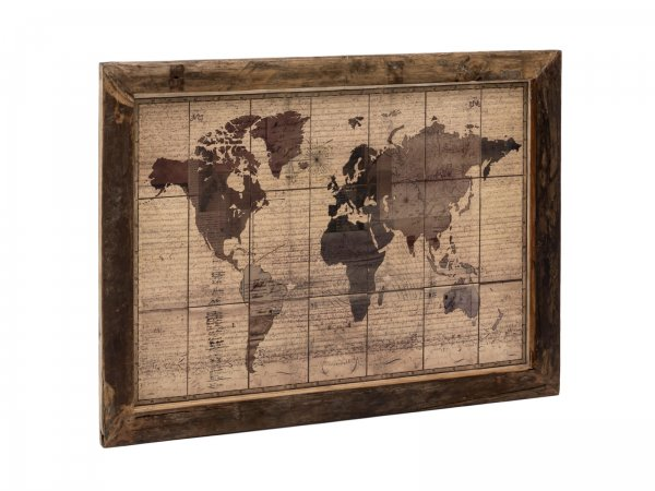 Wandbild World Map 120x90