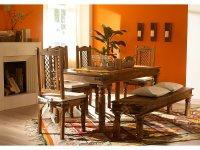 Tisch 150x90 + Bank + 4 Stühle Merlin I