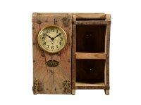 Ziegelform Uhr mit Fächer