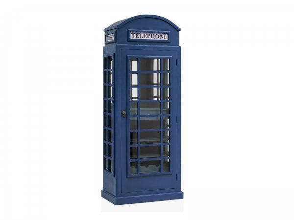 Barschrank London Blau
