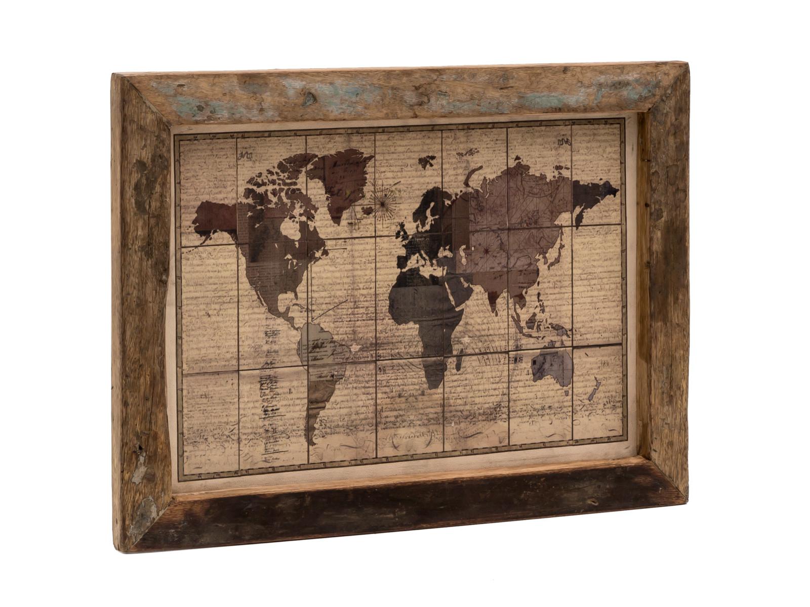Wandbild World Map 60x45