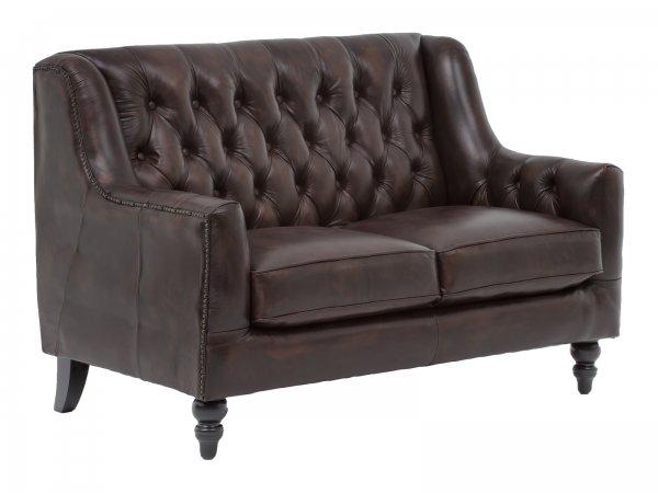 Sofa Chesterfield Stafford 2-Sitzer antik braun