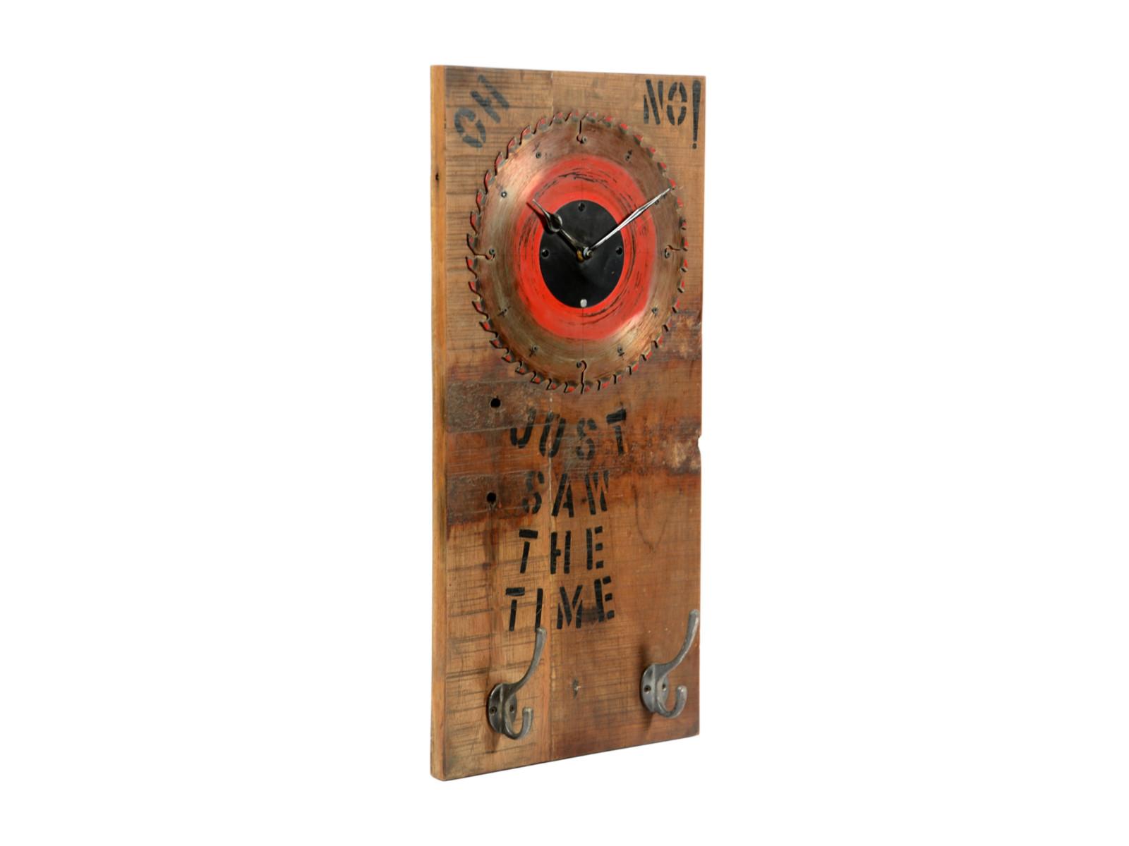 Holz Wanduhr 30x60 mit Haken