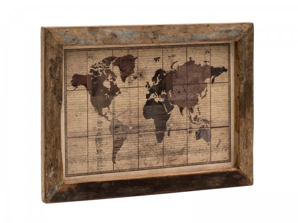Wandbild World Map 60x45