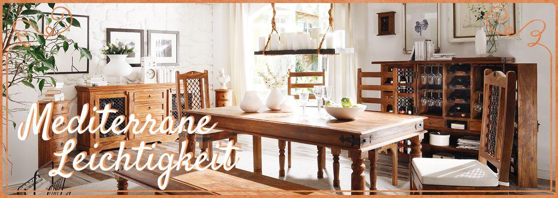 mediterranes wohnen m bel im mittelmeer stil massivum. Black Bedroom Furniture Sets. Home Design Ideas