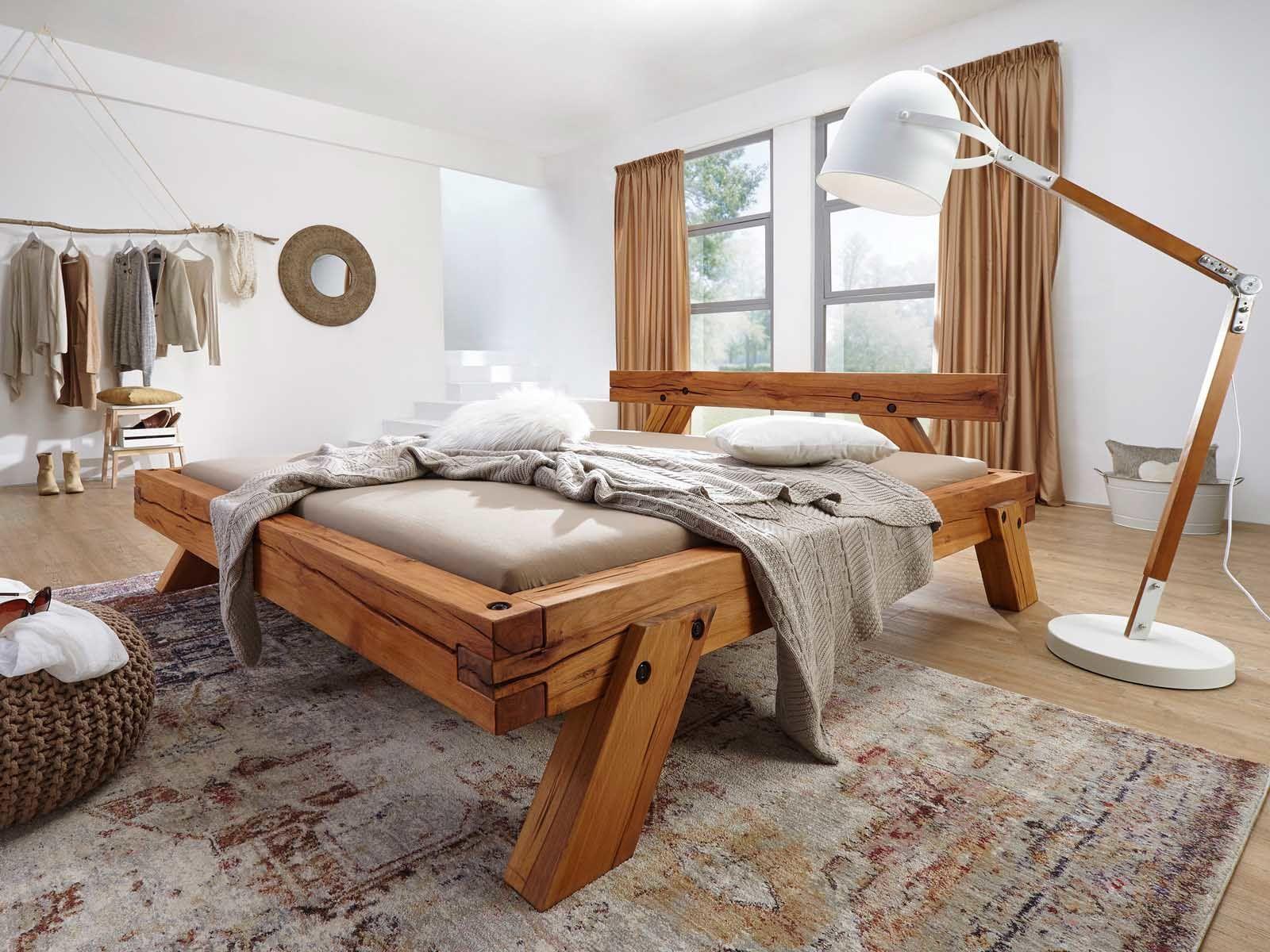Balkenbett Aus Massivholz Vorteile Beispiele Massivum