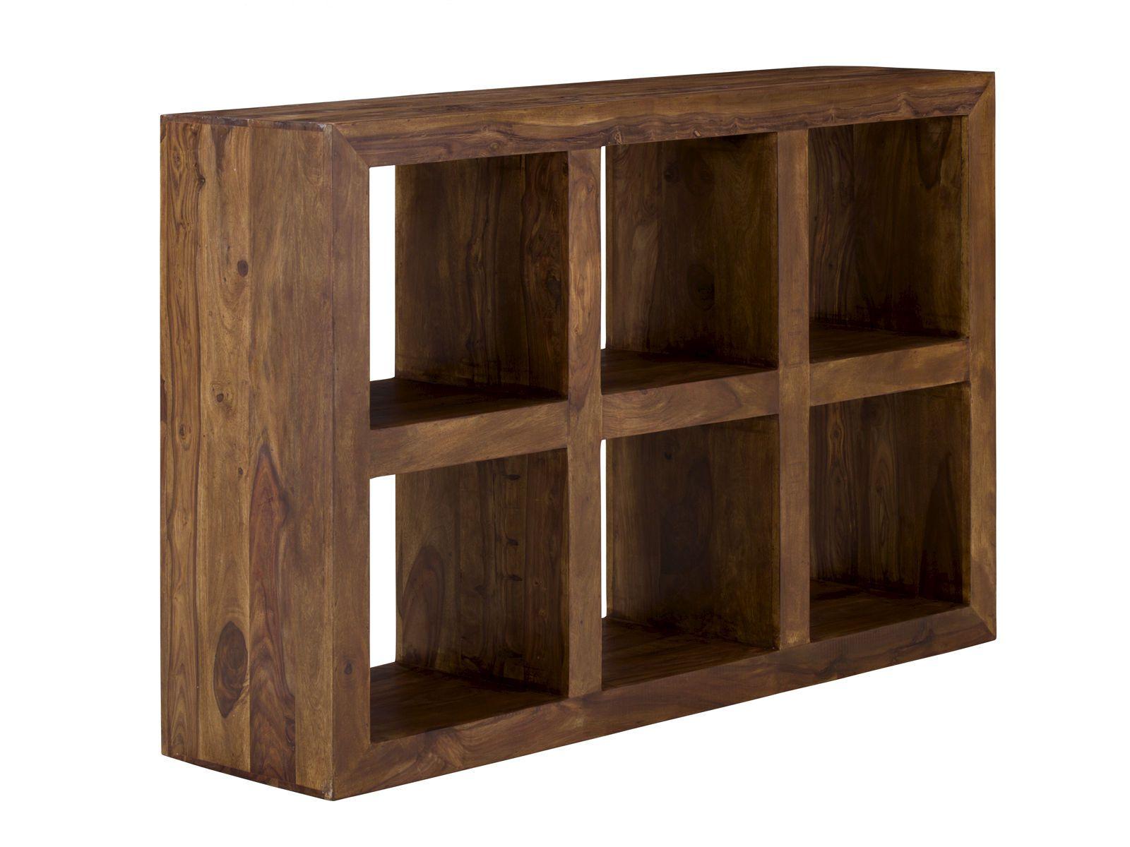 Bücherregal Cube 6 Fächer honig Palisander