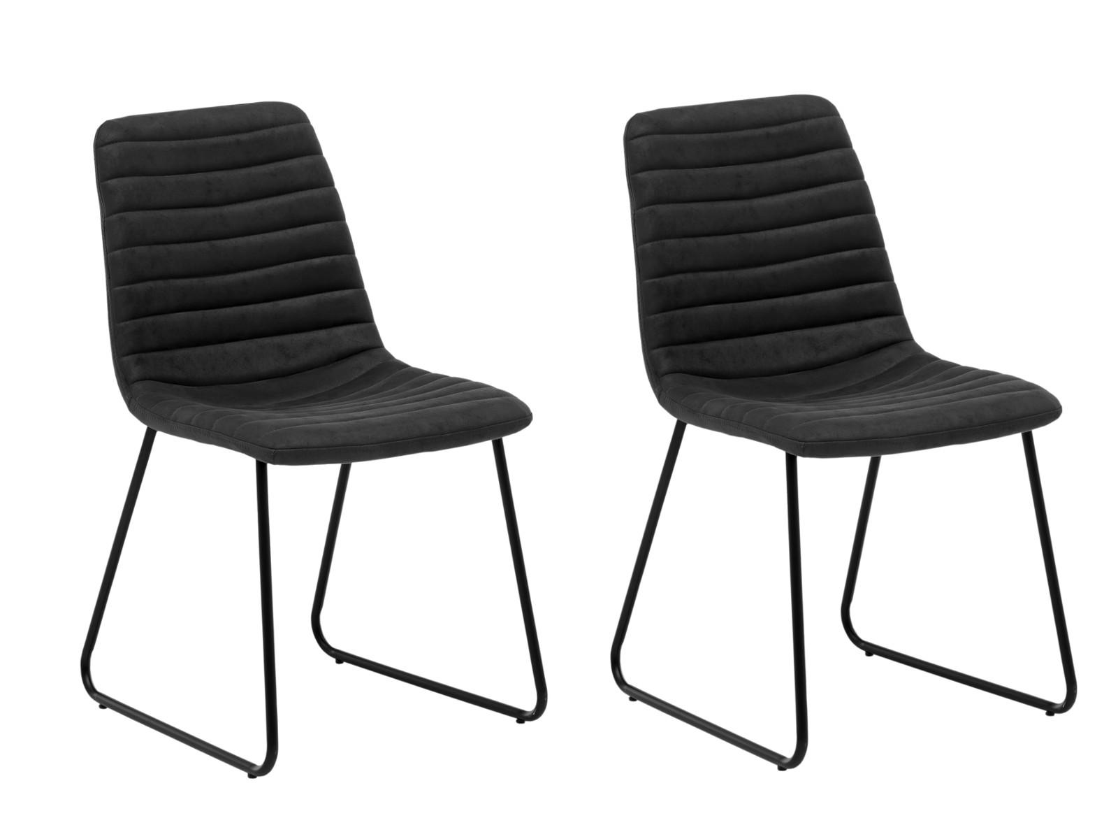 2er Set Stuhl Milton grau/schwarz