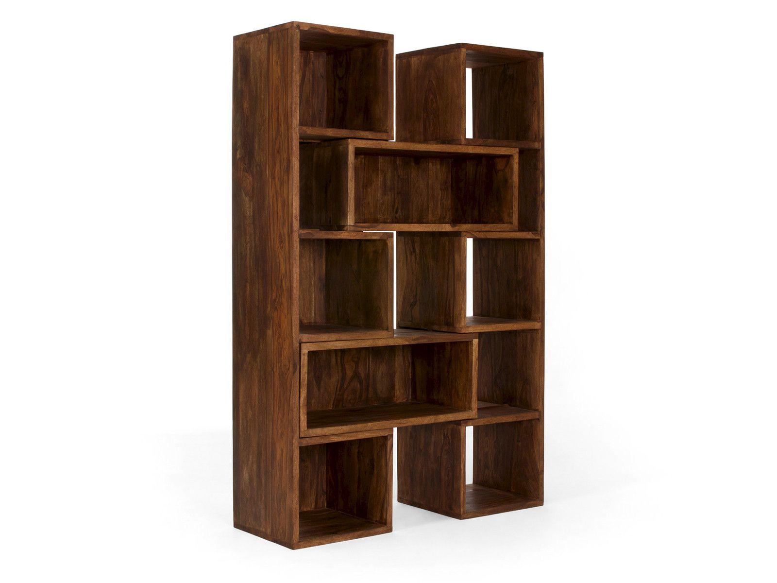 b cherregal cube ausziehbar palisander honig b cherregale von massivum. Black Bedroom Furniture Sets. Home Design Ideas
