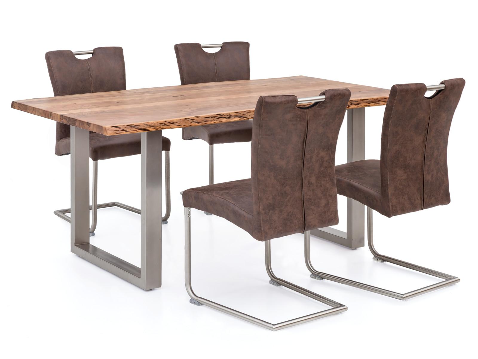 tischgruppe reefton metall edelstahloptik woodkings shop. Black Bedroom Furniture Sets. Home Design Ideas