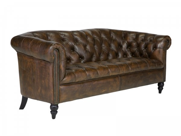 Sofa Chesterfield Shelford 3-Sitzer antik braun