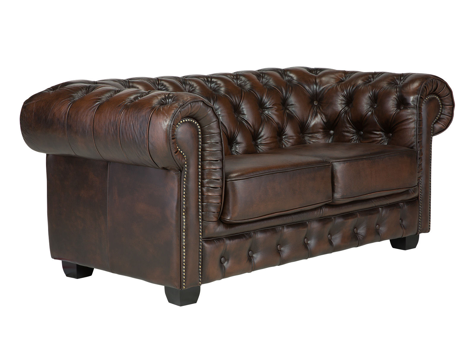 Sofa Chesterfield Big 2-Sitzer braun